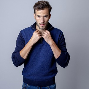 Sweter Willsoor w stylu casual ze stójką