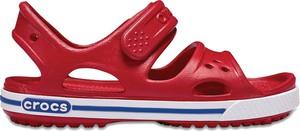 Czerwone buty dziecięce letnie Crocs na rzepy