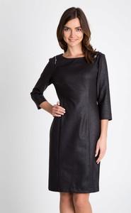 Czarna sukienka QUIOSQUE mini prosta