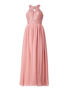 Różowa sukienka Laona bez rękawów rozkloszowana