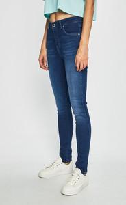 Granatowe jeansy Silvian Heach z bawełny
