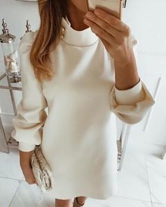 Sukienka Kendallme z długim rękawem mini z okrągłym dekoltem