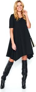 Sukienka Makadamia midi z krótkim rękawem asymetryczna