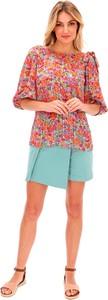 Bluzka Lavard z okrągłym dekoltem z tkaniny