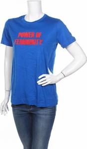 Niebieski t-shirt By Malene Birger z krótkim rękawem