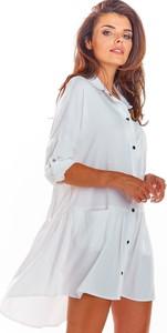 Sukienka Awama w stylu casual koszulowa z długim rękawem