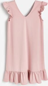 Różowa sukienka Reserved w stylu casual mini