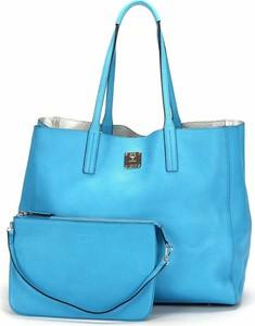 Niebieska torebka Mcm Pre-owned duża w stylu retro