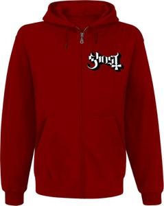 Czerwona bluza Ghost z bawełny