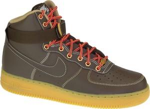 Buty sportowe Nike sznurowane w street stylu ze skóry