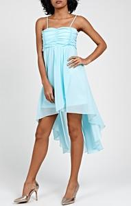 Niebieska sukienka Gate z szyfonu