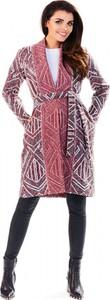 Różowy płaszcz Awama w stylu casual