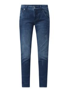 Granatowe jeansy MAC z bawełny