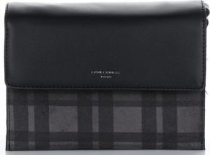 Granatowa torebka David Jones średnia w stylu glamour