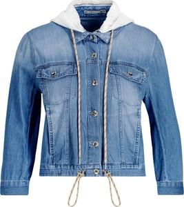 Niebieska kurtka Patrizia Pepe krótka w stylu casual