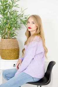 Fioletowy sweter Olika