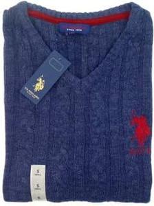 Sweter U.S. Polo z dzianiny