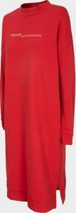 Czerwona sukienka Outhorn mini w stylu casual z bawełny