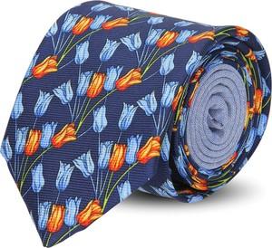 Wielokolorowy krawat recman