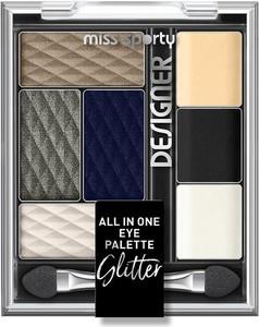 Miss Sporty, Designer All In One Eye Palette, paleta cieni do powiek, 400 Glitter, 9.5 g