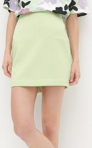 Zielona spódnica Reserved mini z dzianiny