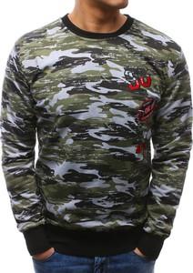 Dstreet bluza męska camo zielono-szare (bx3464)