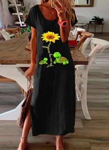 Czarna sukienka Kendallme midi z dekoltem w kształcie litery v