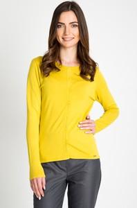 Żółty sweter QUIOSQUE w stylu casual