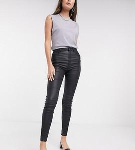 Czarne jeansy New Look w street stylu ze skóry