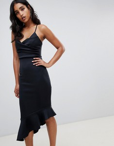 Czarna sukienka Asos Design asymetryczna