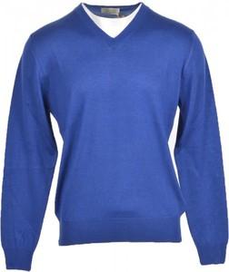 Niebieski sweter N.o.w. w stylu casual z kaszmiru