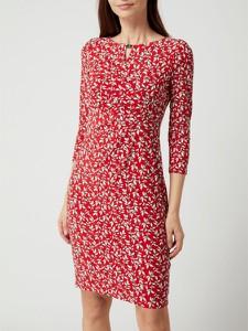 Sukienka Ralph Lauren z okrągłym dekoltem z długim rękawem mini