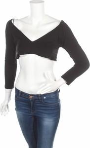 Czarna bluzka Barbara Schwarzer w stylu casual z długim rękawem