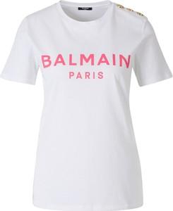 T-shirt Balmain z okrągłym dekoltem z dżerseju