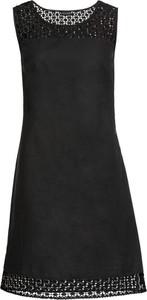 Sukienka bonprix BODYFLIRT z lnu bez rękawów trapezowa