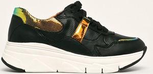 Buty sportowe Tamaris na platformie sznurowane ze skóry ekologicznej