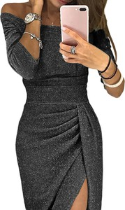 Czarna sukienka DAFNIS maxi