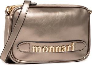 Złota torebka Monnari matowa na ramię