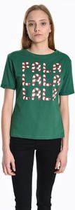 T-shirt Gate w bożonarodzeniowy wzór z bawełny z krótkim rękawem