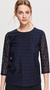 Niebieska bluzka Reserved z długim rękawem