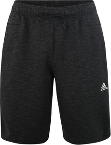 Czarne spodenki Adidas Performance z dresówki