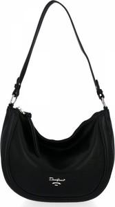 Czarna torebka David Jones ze skóry ekologicznej na ramię w stylu glamour