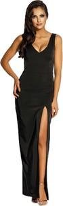Czarna sukienka Dursi na ramiączkach maxi