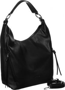 Czarna torebka David Jones na ramię duża matowa