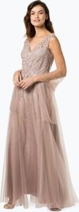 Różowa sukienka Luxuar Fashion bez rękawów z tiulu maxi