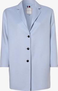 Niebieski płaszcz Tommy Hilfiger z wełny w stylu casual