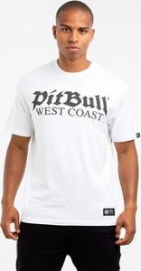 T-shirt Pitbull West Coast z żakardu z krótkim rękawem