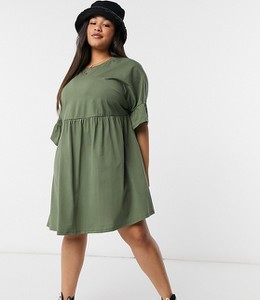 Zielona sukienka Asos oversize mini