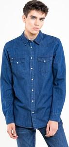 Niebieska koszula Big Star w stylu casual z bawełny z długim rękawem