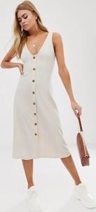 Sukienka Asos Design midi na ramiączkach z dżerseju
